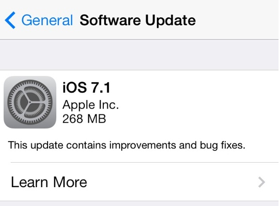 Apple-iOS 7.1
