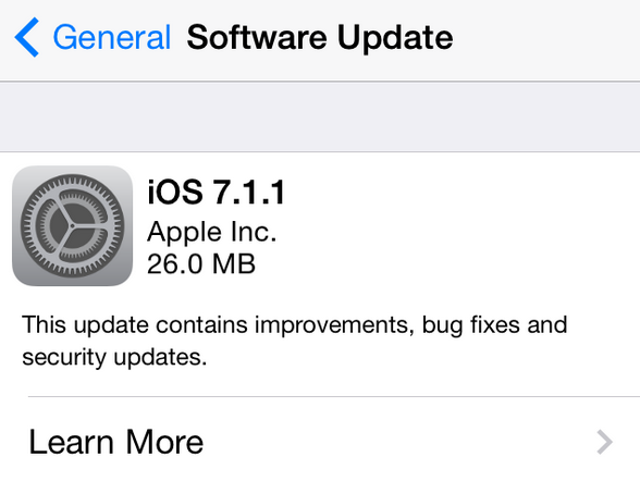 Apple- iOS 7.1.1-update
