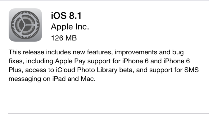 Apple-iOS 8.1-Update