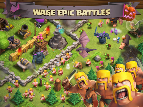 Clash of Clans 210 Top Free iPad Games 2014