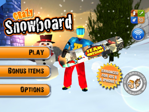 Crazy Snowboard 210 Top Free iPad Games 2014