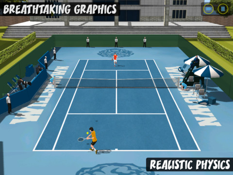 Flick Tennis College Wars HD 210 Top Free iPad Games 2014