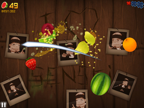 Fruit Ninja HD 210 Top Free iPad Games 2014