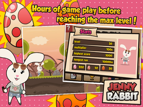 Jenny Rabbit Egg Run 210 Top Free iPad Games 2014