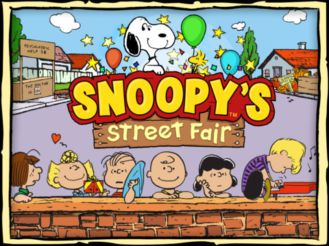 Snoopy Street Fair 210 Top Free iPad Games 2014