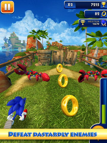 Sonic Dash 210 Top Free iPad Games 2014
