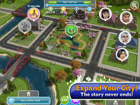 The Sims1 210 Top Free iPad Games 2014