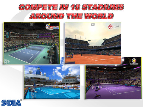 Virtua Tennis Challenge 210 Top Free iPad Games 2014
