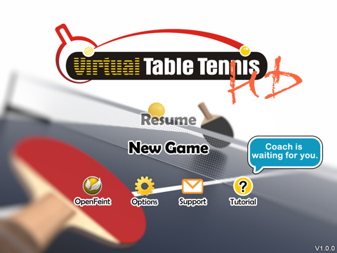 Virtual Table Tennis HD 210 Top Free iPad Games 2014
