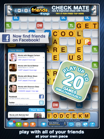 Words With Friends HD 210 Top Free iPad Games 2014