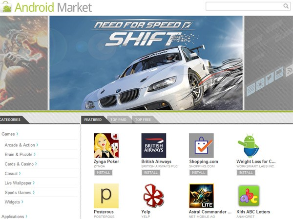 Google-Android-Market-web-client