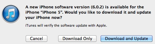 iOS 602 update Apple Rolls Out iOS 6.0.2 For iPhone 5 and iPad mini