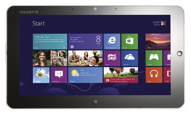 gigabyte windows 8 tablets Gigabyte Unveils 11.6 inch S1082 and S1185 Windows 8 Tablets