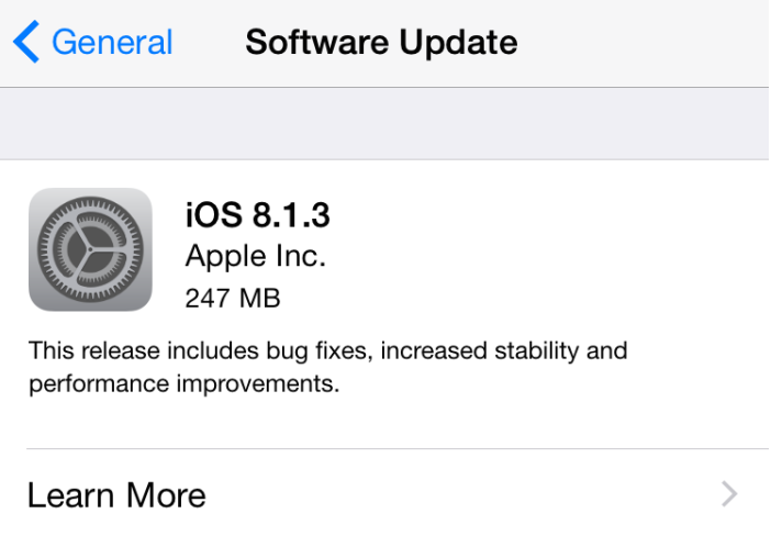 Apple-iOS 8.1.3-software-update