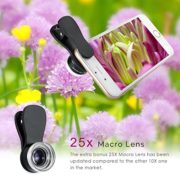 Amir-3-in-1-Clip-on-Cell-Phone-Camera-Lens-Kit-25x-Macro-Lens-036x-Wide-Angle-Lens-180-Fisheye-Lens-for-iPhone-6S-6S-Plus-Samsung-Galaxy-Windows-Most-Smartphones-0-1