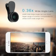 Amir-3-in-1-Clip-on-Cell-Phone-Camera-Lens-Kit-25x-Macro-Lens-036x-Wide-Angle-Lens-180-Fisheye-Lens-for-iPhone-6S-6S-Plus-Samsung-Galaxy-Windows-Most-Smartphones-0-3
