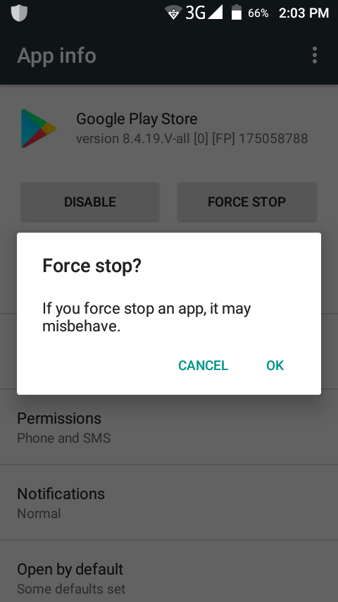 Force-stop